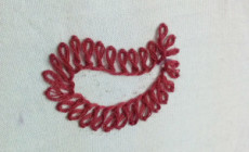 Basque Stitch or Twisted daisy border stitch