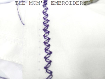 Zigzag Cable Chain Stitch